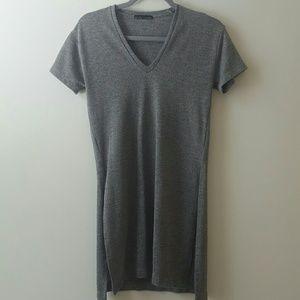 Zara Fall VNeck Gray Top